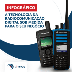 radiocomunicação digital sob medida infográfico